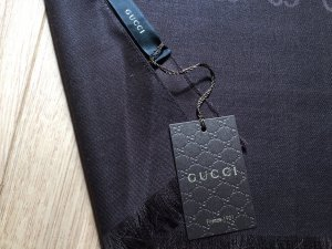 Gucci Fazzoletto da collo marrone scuro