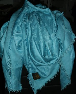 Louis Vuitton Panno di seta turchese Seta