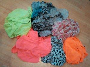 Sciarpa stropicciata multicolore