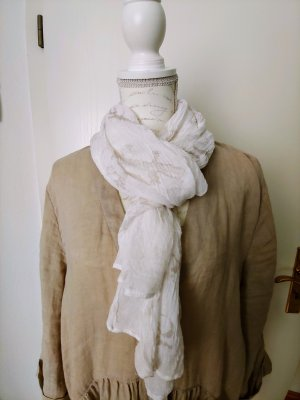 Cecil Crinkle Scarf natural white-beige
