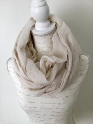Pieces Crinkle Scarf pale yellow-oatmeal