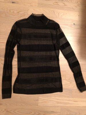 Tüll-Bluse in schwarz Größe 38
