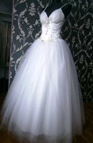 Wedding Dress white-silver-colored