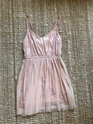 Forever 21 Sequin Dress rose-gold-coloured-pink