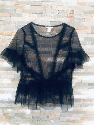 Tüll-Shirt Bluse von H&M in XS