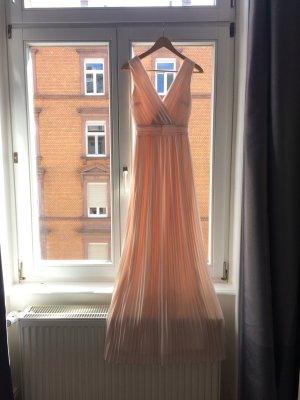 Asos Evening Dress natural white-pink polyester