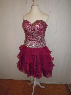 Tüllkleid Petticoat Kleid Cocktailkleid Abendkleid Magic Nights Luxuar Korsage Gr. 36