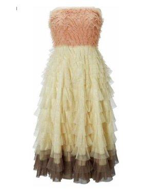 Tüllkleid Rüschenkleid Midikleid Carrie Bradshaw Abiball Hochzeit nude schwarz traffic people