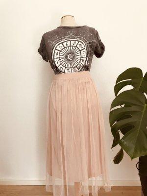 H&M Falda de tul rosa claro Poliéster
