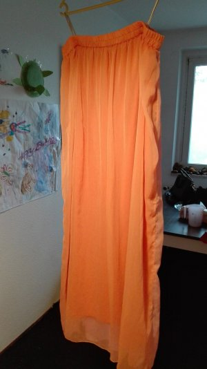 Falda de tul salmón