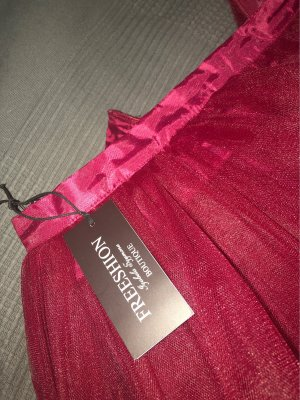 Tule rok bordeaux Polyester