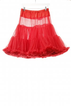 Tulle Skirt bright red rockabilly style