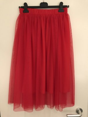 le streghe Tulle Skirt red
