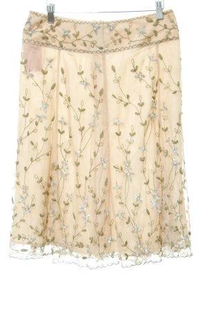 Tüllrock nude-olivgrün florales Muster Romantik-Look