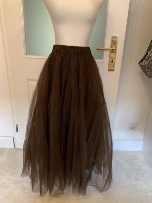 P.A.R.O.S.H. Tulle Skirt brown