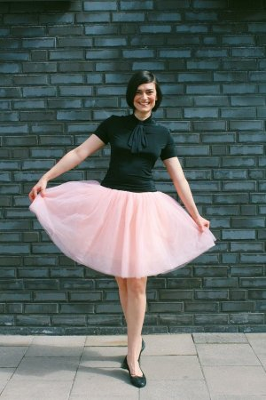 Tüllrock Petticoat Tüll Rock Carrie Bradshaw Peach XS S 34 36 Rockabilly Pinup