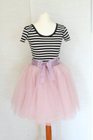 Tüllrock Petticoat Tüll Rock Carrie Bradshaw Rosa Nude XS S 34 36 Blogger Tutu