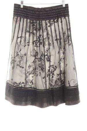 Tule rok zwart-room bloemenprint Kraal versieringen