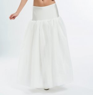 Gonna di tulle bianco-bianco sporco