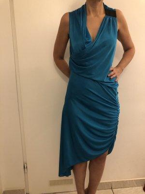 Türkis asymmetrisch Sommer Cocktail Kleid BCBG Original
