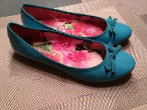 Türkis-blaue Ballerinas von Buffalo