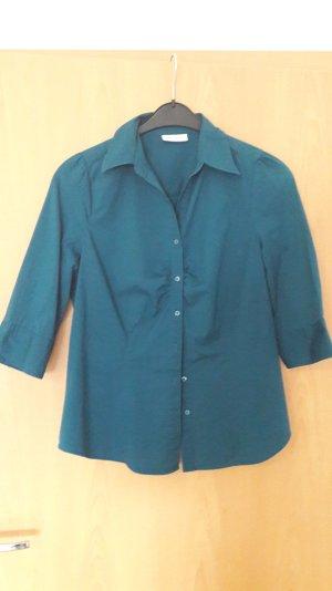 Türkis-Blaue Bluse mit Dreiviertel Ärmel