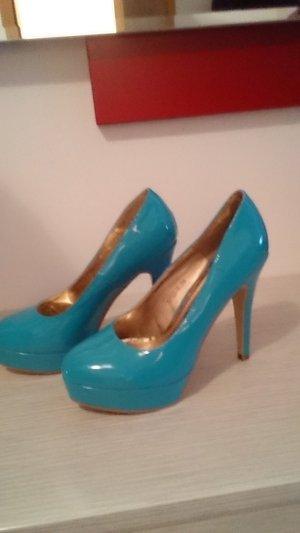 Türkis blaue High heels