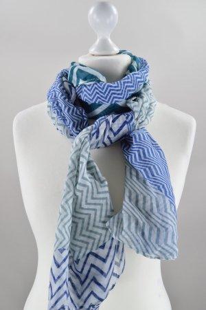 Türkis blaues Tuch mit Muster neu und mit Etikett