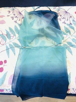 Beachwear dark blue-turquoise polyester
