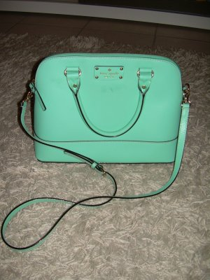 Kate Spade Carry Bag light blue-turquoise leather