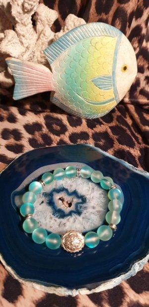 Brazalete de perlas turquesa