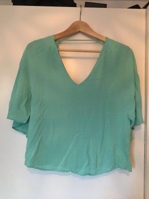 Türkis-Grüne Bluse von Zara