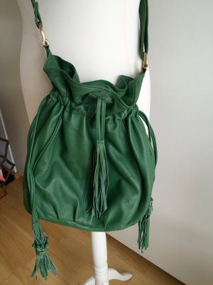 Asos Sac bandoulière kaki-vert clair cuir