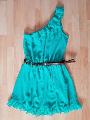 türkis-grünes Sommerkleid