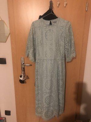 Türkis spitzen Kleid mit Rücken Dekolleté