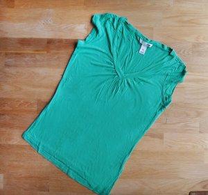 Türkis süßes #Shirt Kurzarm Gr. 36 S XS 34 Blau Grün T-Shirt Top