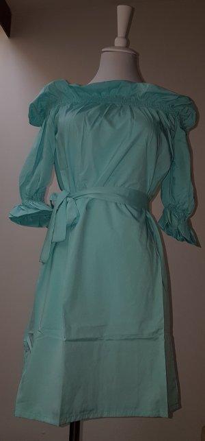 Vestido de tela de sudadera turquesa Licra