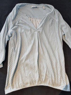 Türkis/weiße Bluse von Tchibo Größe 40/42