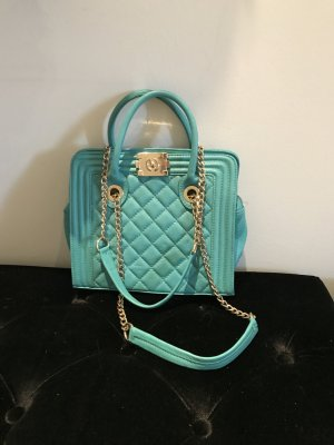 Türkisblaue wunderschön glamouröse Tasche