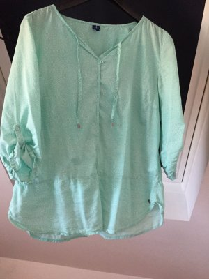 Cecil Blouse oversized blanc-turquoise