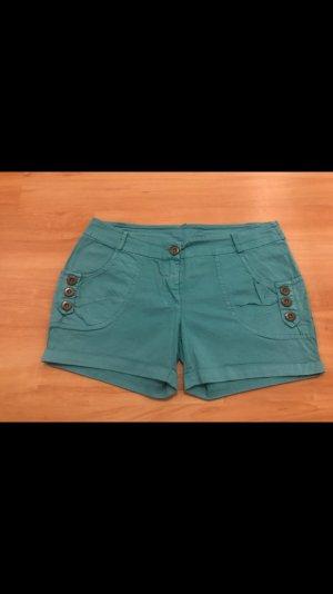 Türkise dünne Shorts