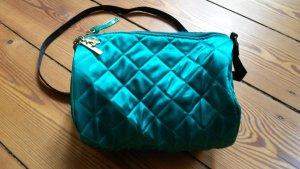 Türkise Handtasche aus Satin mit Stepp-Look