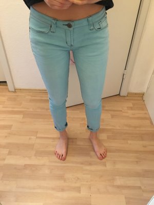 Türkise Hellblaue Skinny Jeans / Röhrenjeans der Marke One Green Elephant in Größe L