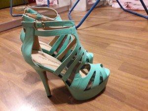 türkise high heels für den perfekten Look