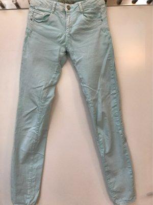 Türkise Jeans-Hose, Zara Trafaluc, 34, XS, sehr bequem zu tragen