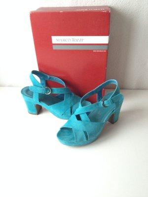 Marco Tozzi Platform High-Heeled Sandal multicolored leather