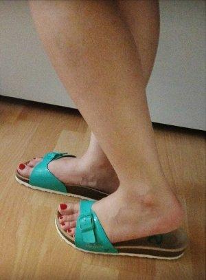 Pepe Jeans Sandalias cómodas turquesa Imitación de cuero
