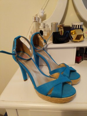 Seven seconds High-Heeled Sandals turquoise-cadet blue