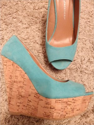 Atmosphere Wedge Pumps turquoise