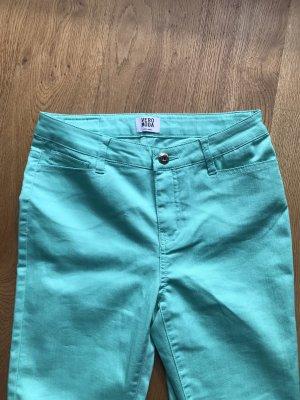 Vero Moda Pantalón elástico turquesa